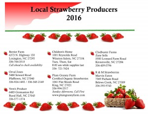 Local strawberry producer flyer image