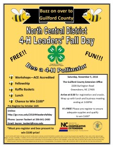 Bee a 4-H Pollinator at 4-H Leaders' Fall Day!