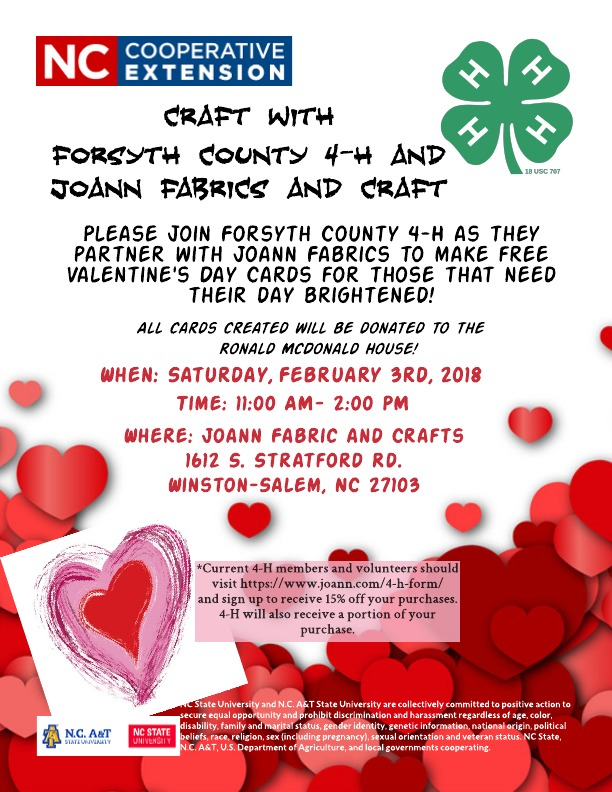 Craft With Forsyth County 4-H and Joann Fabrics! | North Carolina