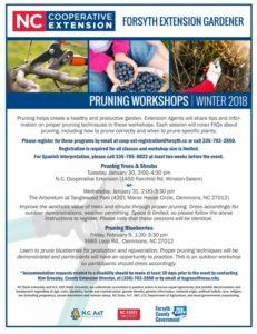 Cover photo for Forsyth Extension Gardener: 2018 Pruning Workshops