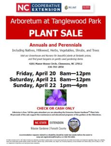 Cover photo for 2018 Plant Sale at the Arboretum at Tanglewood Park