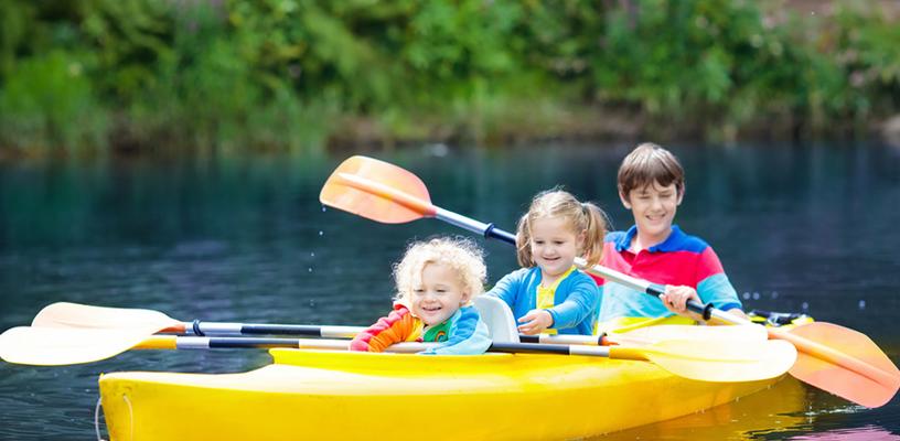 Image of kids in boat