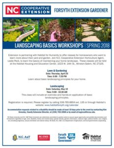 Cover photo for Landscaping Basics Workshops Coming This Spring