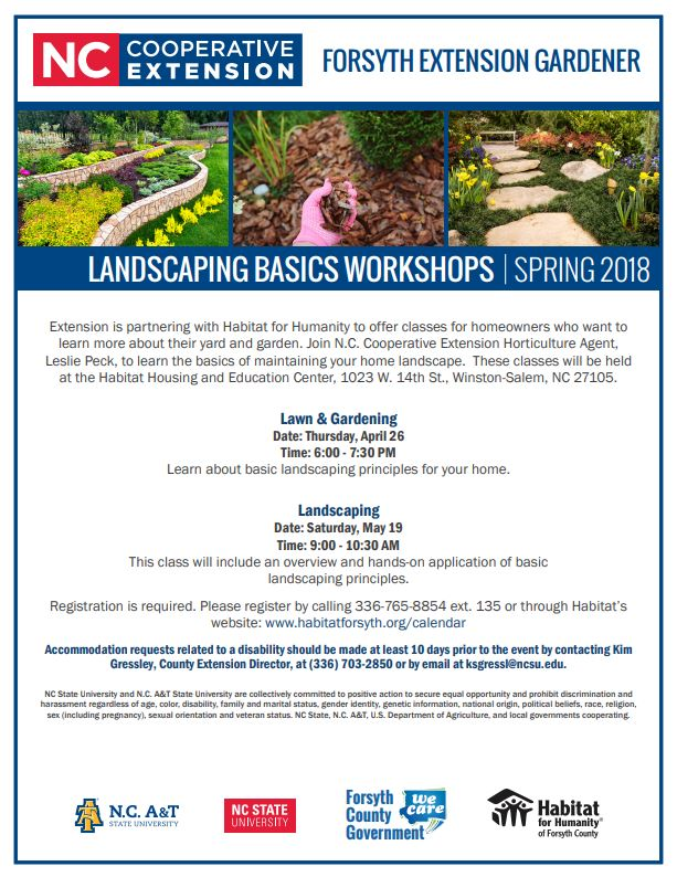 Landscaping basics workshop flyer image