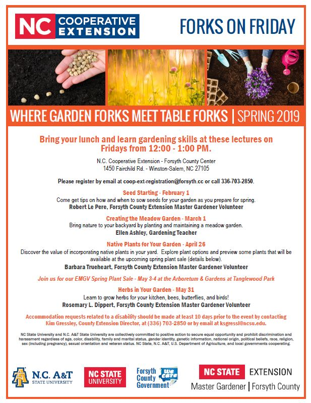 Spring 2019 Forks on Friday flyer
