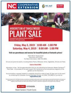 Arboretum at Tanglewood 2019 Plant Sale Flyer