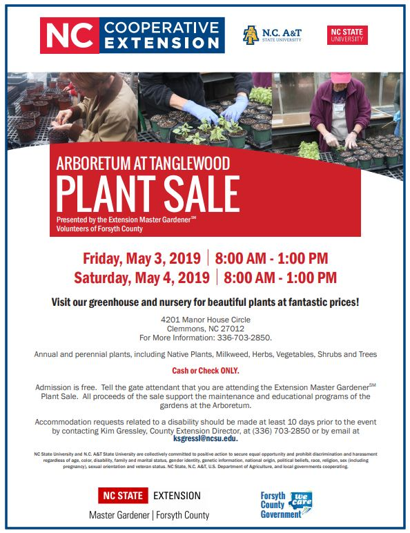 Arboretum at Tanglewood 2019 Plant Sale Flyer