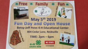 4-H Open House flyer