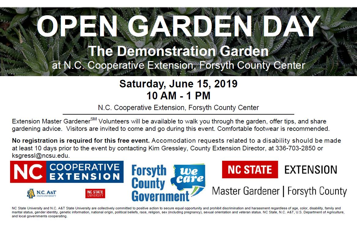 Open Garden Day 2019 Flyer