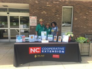 Extension Master Gardener Volunteers at a booth