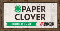 Paper Clover Campaign October 9-20