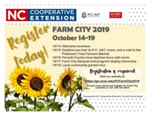 Image of Farm City 2019 postcard invitation