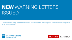 blue and white banner image announcing the FDA warning letters