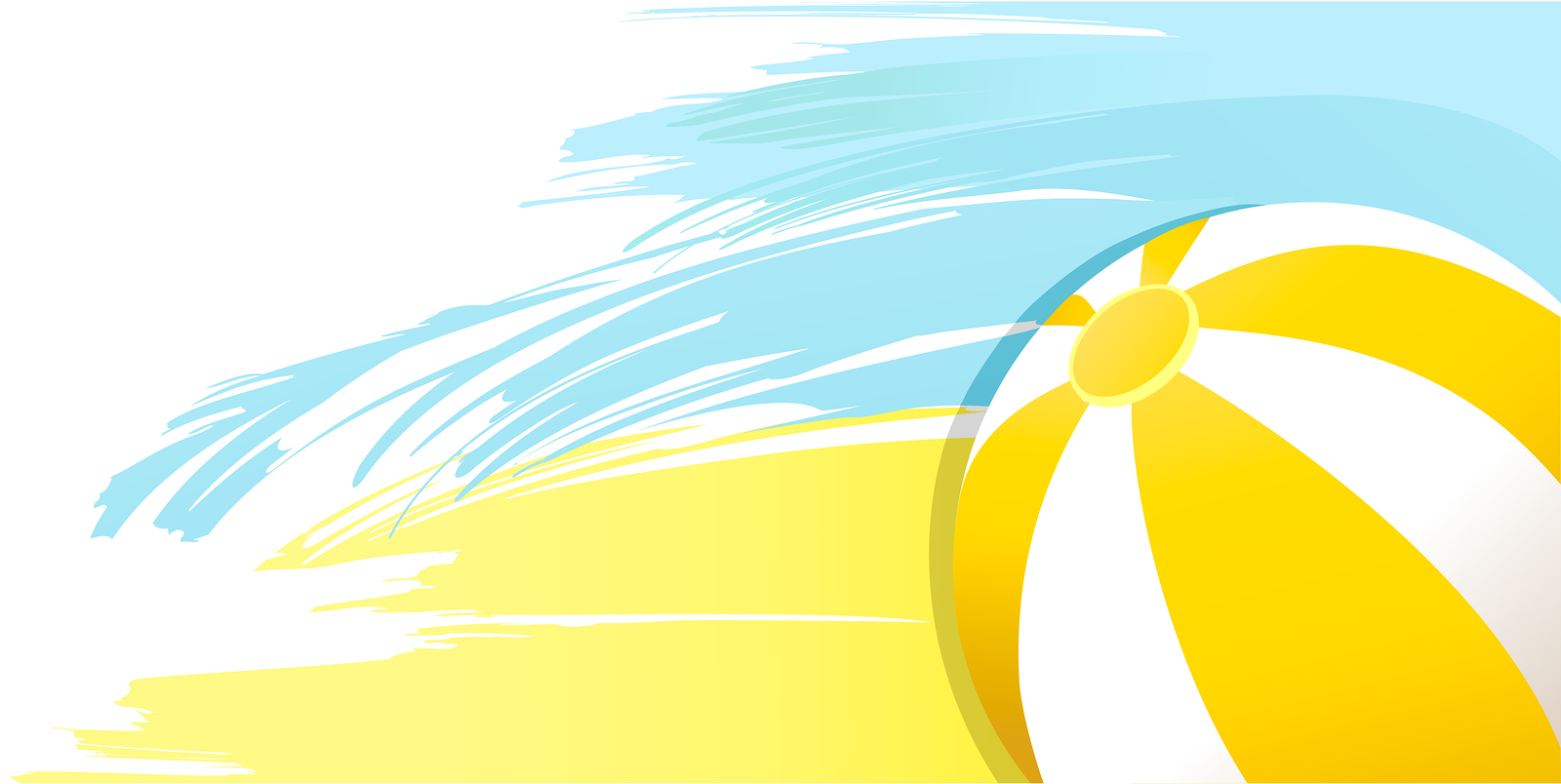 Summer sunny yellow background with beach ball