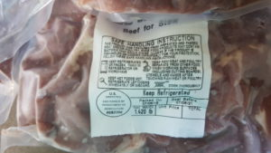 meat label