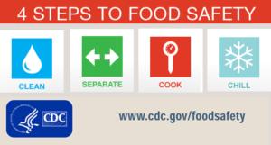 4 step food safety logo
