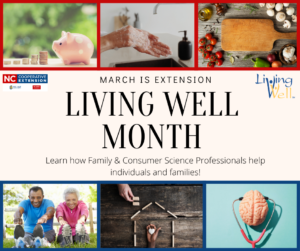 Cover photo for March Is Living Well Month. Register Today for Live Well, Be Well!